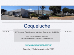 coqueluche - Paulo Roberto Margotto