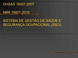 OHSAS 18001: 2007 Informações Gerais
