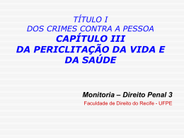 Crimes de Perigo CONCRETO