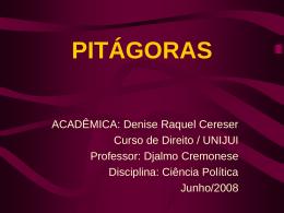 PITÁGORAS - Capital Social Sul