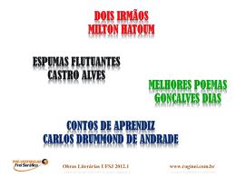 Obras Literárias UFSJ 2012.1
