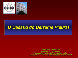 O Desafio do Derrame Pleural
