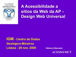 Politica de acessibilidade à Web em Portugal