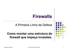 Pensando em Firewalls