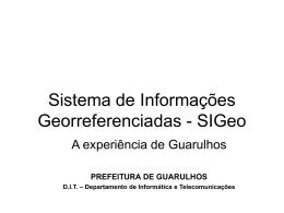 Sistema de Informações Georreferenciadas