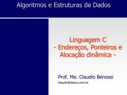 x - Prof. Ms. Claudio Benossi