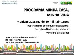 Slide 1 - Encontro Nacional com Novos Prefeitos