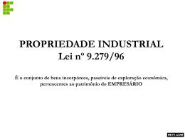propriedade industrial lei nº 9.27996