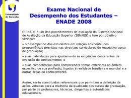 Apresentação ENADE - 2008 - Início