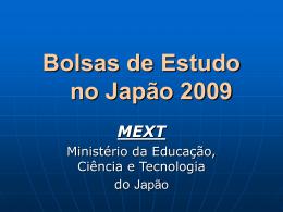 Bolsas de Estudos no Japão 2006