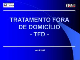 TFD - Secretaria da Saúde