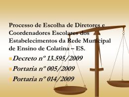 II Módulo Fundamentação Legal - Prefeitura Municipal de Colatina