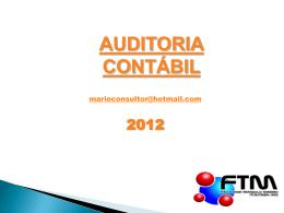 Apresentação Auditoria - Unidade I - Conceitos básicos de