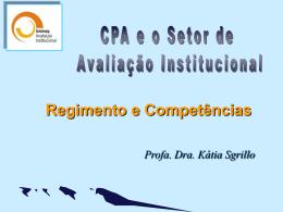 1RegimentoeCompetenciasSinaeseAvaliacaoInstitucional