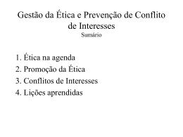 A ética como instrumento para a gestão pública