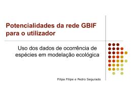 Slide 1 - gbif.pt