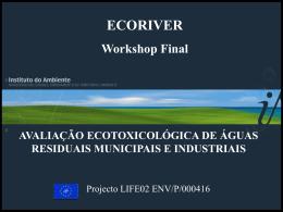 avaliação ecotoxicológica de águas residuais municipais e