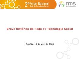 Slide 1 - Rede de Tecnologia Social