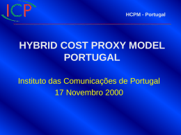 HYBRID COST PROXY MODEL - PORTUGAL