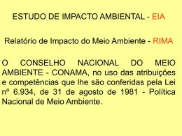 Resolução/CONAMA/Nº 001/86