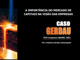 A capitalização da empresa brasileira