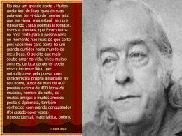 Vinícius de Moraes e seus poemas