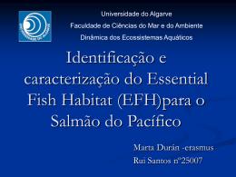 Identificação e caracterização do Essential Fish Habitat para o