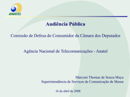 Apresentação Anatel - Câmara dos Deputados