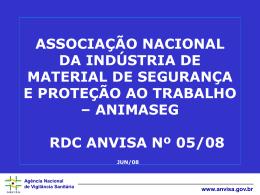 Agência Nacional de Vigilância Sanitária www.anvisa