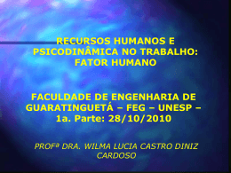 FATOR HUMANO - 1a. PARTE - 28 10 2010