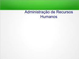Administração de Recursos Humanos Slides - Docente