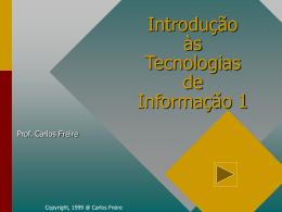 Unidade 1 - Conceitos Básicos - Apresentação Electrónica