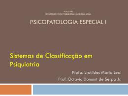 A classificação na psiquiatria - (LTC) de NUTES