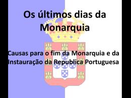 Os últimos dias da Monarquia