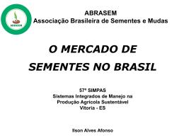 O mercado de sementes no Brasil