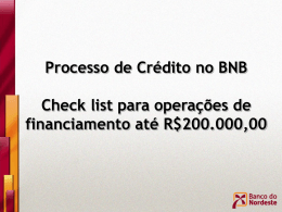 Check list para operações de financiamento até R$200.000,00