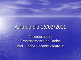 IPD – aula 16-02-2011