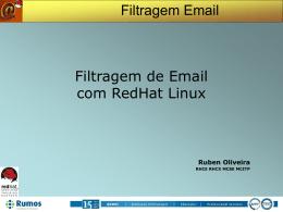 Filtragem e-Mail - Ruben Oliveira