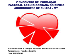 Slide 1 - Arquidiocese de Cuiabá