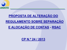 Apresentação sobre a proposta de alteração do