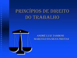 Princípios de Direito do Trabalho.