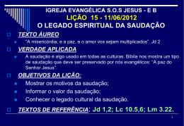11/06/2012 o legado espiritual da saudação