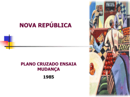 A Nova República -Década 80 - Professor Francisco Salles