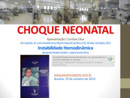 choque neonatal - Paulo Roberto Margotto