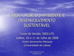 éticas - Iseg - Universidade de Lisboa