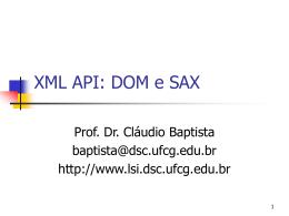 SAX e DOM