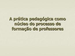 A prática pedagógica como núcleo do processo de