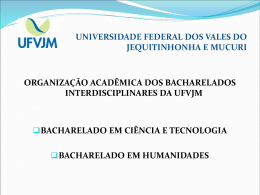 UNIVERSIDADE FEDERAL DOS VALES DO