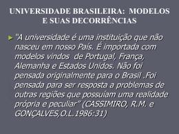 Modelos Históricos de Universidade