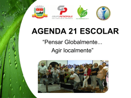 AGENDA 21 ESCOLAR - Instituto Chico Mendes
